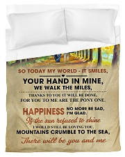 To My Darling - Your Hand in Mine Duvet Cover - Twin thumbnail