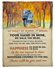 To My Darling - Your Hand in Mine Fleece Blanket tile