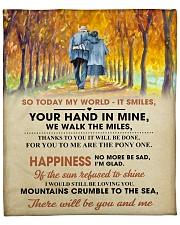 "To My Darling - Your Hand in Mine Fleece Blanket - 50"" x 60"" front"