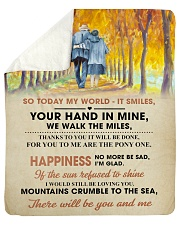 """To My Darling - Your Hand in Mine Sherpa Fleece Blanket - 50"""" x 60"""" thumbnail"""
