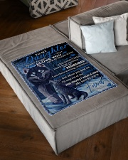 "To My Daughter From DAD -wolf- 02 Small Fleece Blanket - 30"" x 40"" aos-coral-fleece-blanket-30x40-lifestyle-front-03"