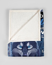 "To My Daughter From DAD -wolf- 02 Small Fleece Blanket - 30"" x 40"" aos-coral-fleece-blanket-30x40-lifestyle-front-17"