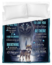 To My Son from mom Duvet Cover - Twin thumbnail