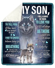 """To My Son from mom Sherpa Fleece Blanket - 50"""" x 60"""" thumbnail"""