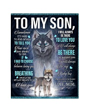 """To My Son from mom Quilt 40""""x50"""" - Baby thumbnail"""