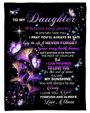 To My Daughter From Mom  - Butterflt -06 Fleece Blanket tile