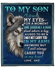 "To My Son From Dad  - Wolf - 05 Fleece Blanket - 50"" x 60"" front"