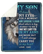 "To My Son From Dad  - Wolf - 05 Sherpa Fleece Blanket - 50"" x 60"" thumbnail"