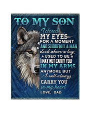 "To My Son From Dad  - Wolf - 05 Quilt 40""x50"" - Baby thumbnail"