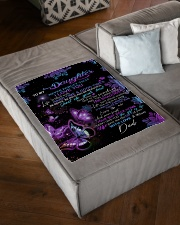 """To My Daughter From DAD - Butterfly- 01 Small Fleece Blanket - 30"""" x 40"""" aos-coral-fleece-blanket-30x40-lifestyle-front-03"""