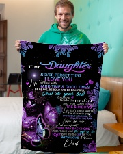 """To My Daughter From DAD - Butterfly- 01 Small Fleece Blanket - 30"""" x 40"""" aos-coral-fleece-blanket-30x40-lifestyle-front-09"""