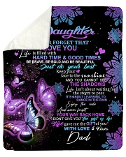 """To My Daughter From DAD - Butterfly- 01 Sherpa Fleece Blanket - 50"""" x 60"""" thumbnail"""