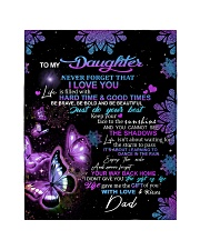 """To My Daughter From DAD - Butterfly- 01 Quilt 40""""x50"""" - Baby thumbnail"""