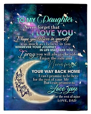 To My Daughter From DAD - Love you to the Moon Comforter - Twin thumbnail