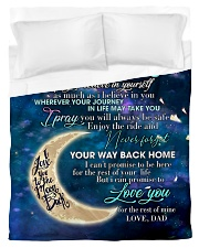 To My Daughter From DAD - Love you to the Moon Duvet Cover - Twin thumbnail