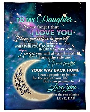 To My Daughter From DAD - Love you to the Moon Fleece Blanket tile