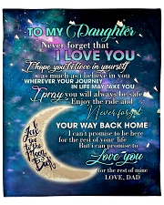 """To My Daughter From DAD - Love you to the Moon Fleece Blanket - 50"""" x 60"""" front"""