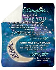 """To My Daughter From DAD - Love you to the Moon Sherpa Fleece Blanket - 50"""" x 60"""" thumbnail"""