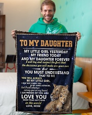 """To My Daughter Small Fleece Blanket - 30"""" x 40"""" aos-coral-fleece-blanket-30x40-lifestyle-front-09"""