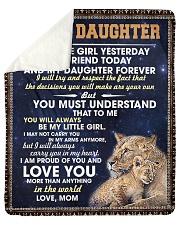 "To My Daughter Sherpa Fleece Blanket - 50"" x 60"" thumbnail"