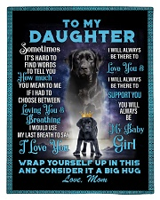 To My Daughter From Mom - Lab Comforter - Twin thumbnail
