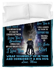 To My Daughter From Mom - Lab Duvet Cover - Twin thumbnail