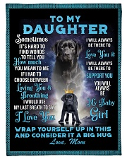 To My Daughter From Mom - Lab Fleece Blanket tile