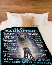 """To My Daughter From Mom - Lab Large Fleece Blanket - 60"""" x 80"""" aos-coral-fleece-blanket-60x80-lifestyle-front-02"""