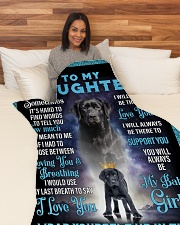 """To My Daughter From Mom - Lab Large Fleece Blanket - 60"""" x 80"""" aos-coral-fleece-blanket-60x80-lifestyle-front-05"""