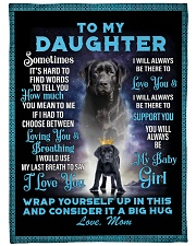 """To My Daughter From Mom - Lab Large Fleece Blanket - 60"""" x 80"""" front"""