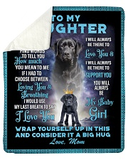 """To My Daughter From Mom - Lab Sherpa Fleece Blanket - 50"""" x 60"""" thumbnail"""