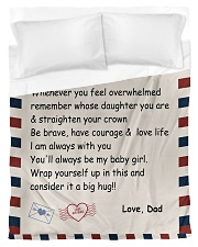 To My Daughter From Dad -04 Duvet Cover - Twin thumbnail