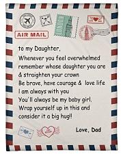 To My Daughter From Dad -04 Fleece Blanket tile
