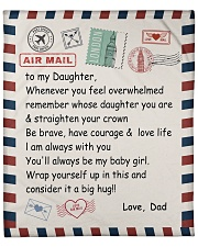 """To My Daughter From Dad -04 Fleece Blanket - 50"""" x 60"""" front"""