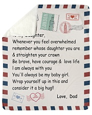 """To My Daughter From Dad -04 Sherpa Fleece Blanket - 50"""" x 60"""" thumbnail"""
