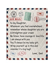 """To My Daughter From Dad -04 Quilt 40""""x50"""" - Baby thumbnail"""