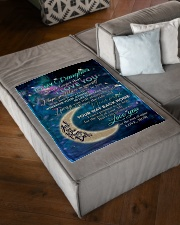 """To My Daughter From Mom - Love you to the Moon Small Fleece Blanket - 30"""" x 40"""" aos-coral-fleece-blanket-30x40-lifestyle-front-03"""