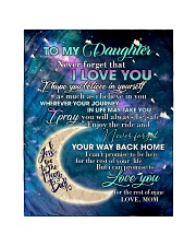 """To My Daughter From Mom - Love you to the Moon Quilt 40""""x50"""" - Baby thumbnail"""