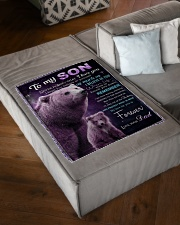 """To My Son from Dad -  Bear Small Fleece Blanket - 30"""" x 40"""" aos-coral-fleece-blanket-30x40-lifestyle-front-03"""