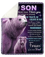 """To My Son from Dad -  Bear Sherpa Fleece Blanket - 50"""" x 60"""" thumbnail"""