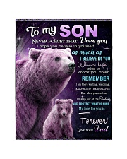 """To My Son from Dad -  Bear Quilt 40""""x50"""" - Baby thumbnail"""