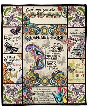"""September Girl -Butterfly Fleece Blanket - 50"""" x 60"""" front"""