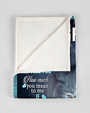 "To My Grandson from grandma Small Fleece Blanket - 30"" x 40"" aos-coral-fleece-blanket-30x40-lifestyle-front-17"