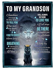 "To My Grandson from grandma Small Fleece Blanket - 30"" x 40"" front"