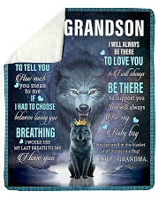 "To My Grandson from grandma Sherpa Fleece Blanket - 50"" x 60"" thumbnail"