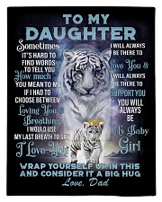 To My Daughter from Dad- Tiger Comforter - Twin thumbnail