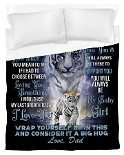 To My Daughter from Dad- Tiger Duvet Cover - Twin thumbnail