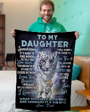 "To My Daughter from Dad- Tiger Small Fleece Blanket - 30"" x 40"" aos-coral-fleece-blanket-30x40-lifestyle-front-09"