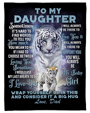 "To My Daughter from Dad- Tiger Small Fleece Blanket - 30"" x 40"" front"