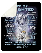 "To My Daughter from Dad- Tiger Sherpa Fleece Blanket - 50"" x 60"" thumbnail"